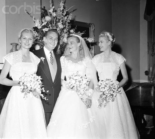 1955 Elizabeth Ann Kelly - Ivory Bridesmaids