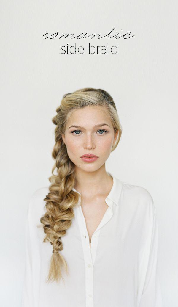DIY Romantic Side Braid