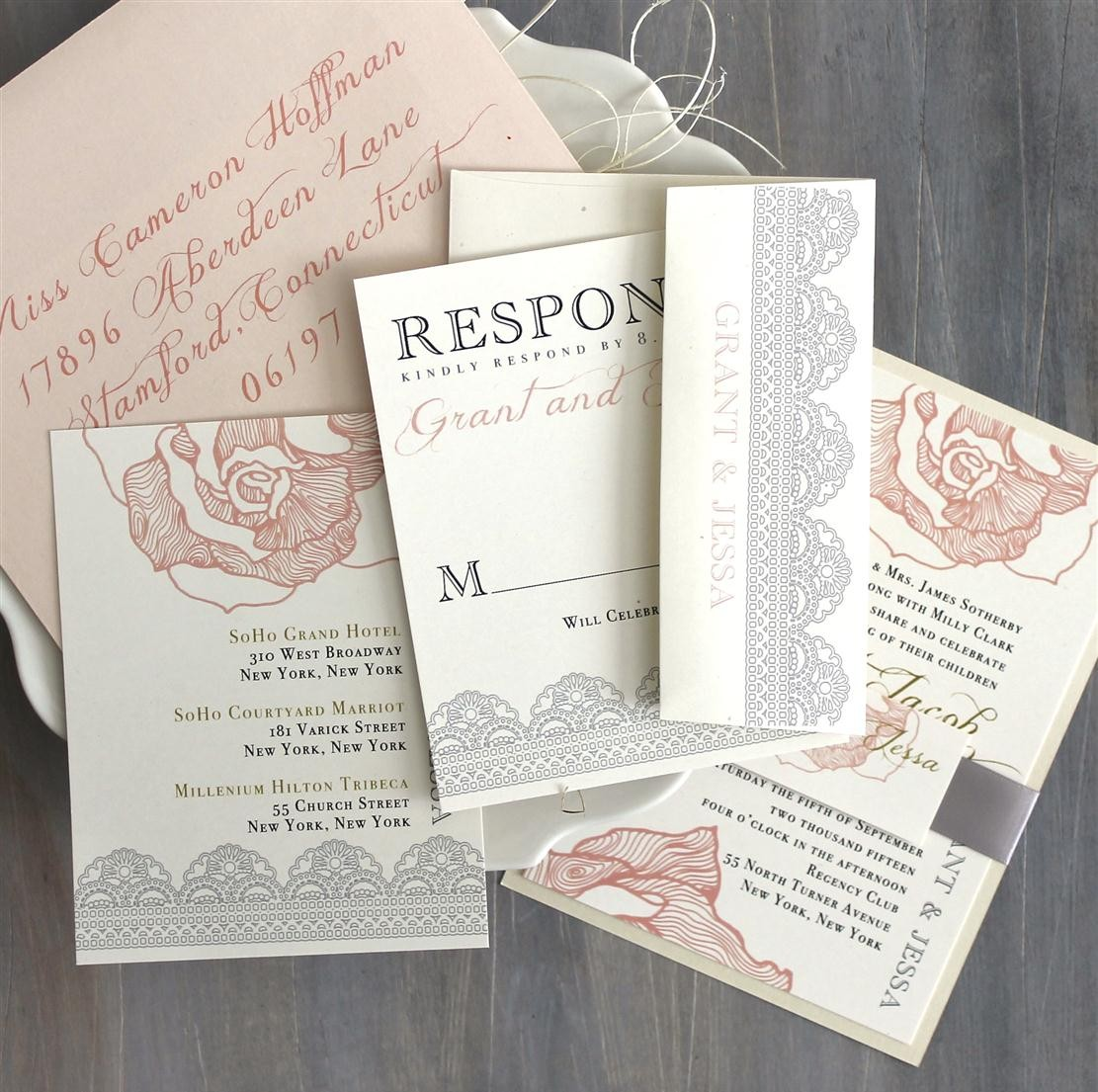 Ruffled Romance Wedding Stationery Suite from Beacon Lane