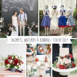 Snippets, Whispers & Ribbons - 4th of July Wedding Inspiration