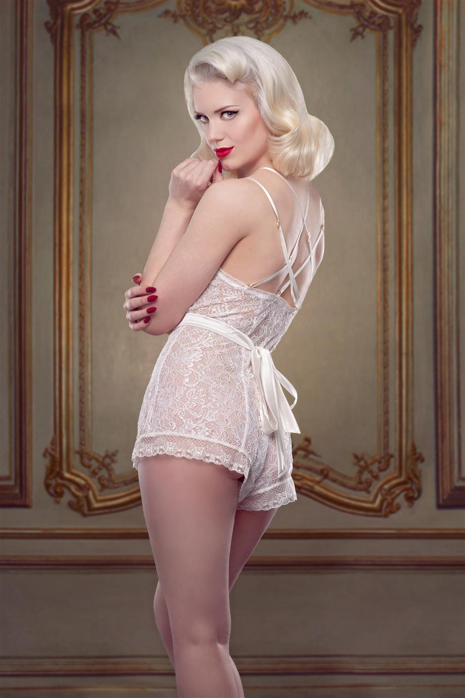 Vintage Bridal Lingerie - The Nell Teddy from Betty Blues Loungerie