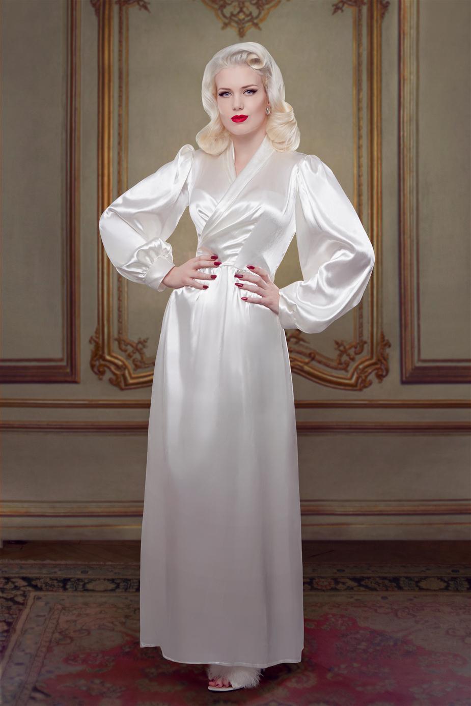 Bridal Silk Bettie Robe from Betty Blues Loungerie