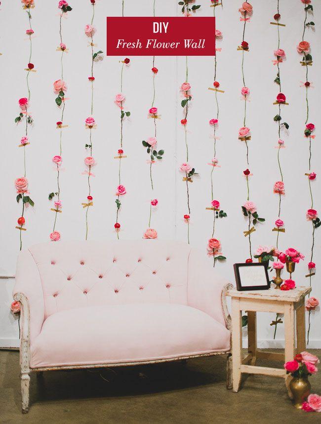 Wedding DIY Fresh Flower Wall