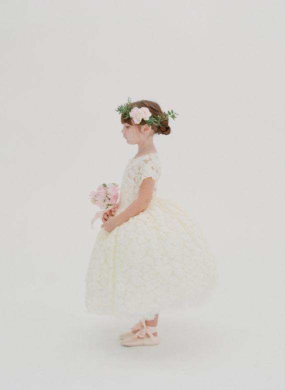 Doloris Petunia Flower Girl Dress