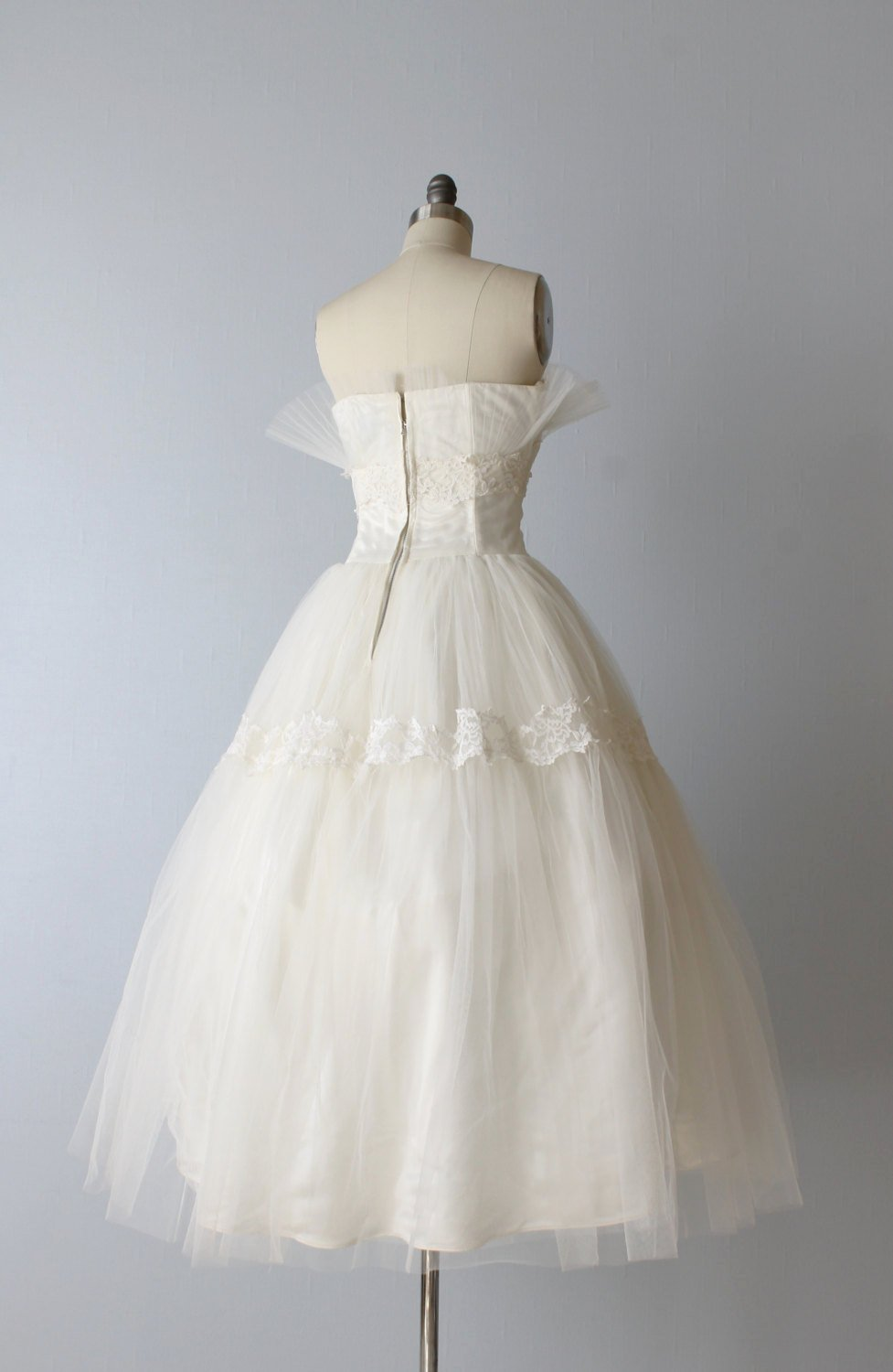 1950s Tulle Wedding Dress from The Vintage Mistress