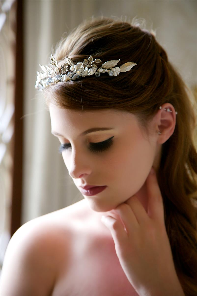 Glamorous Bridal Headpieces from Gilded Shadows - Silver Tiara