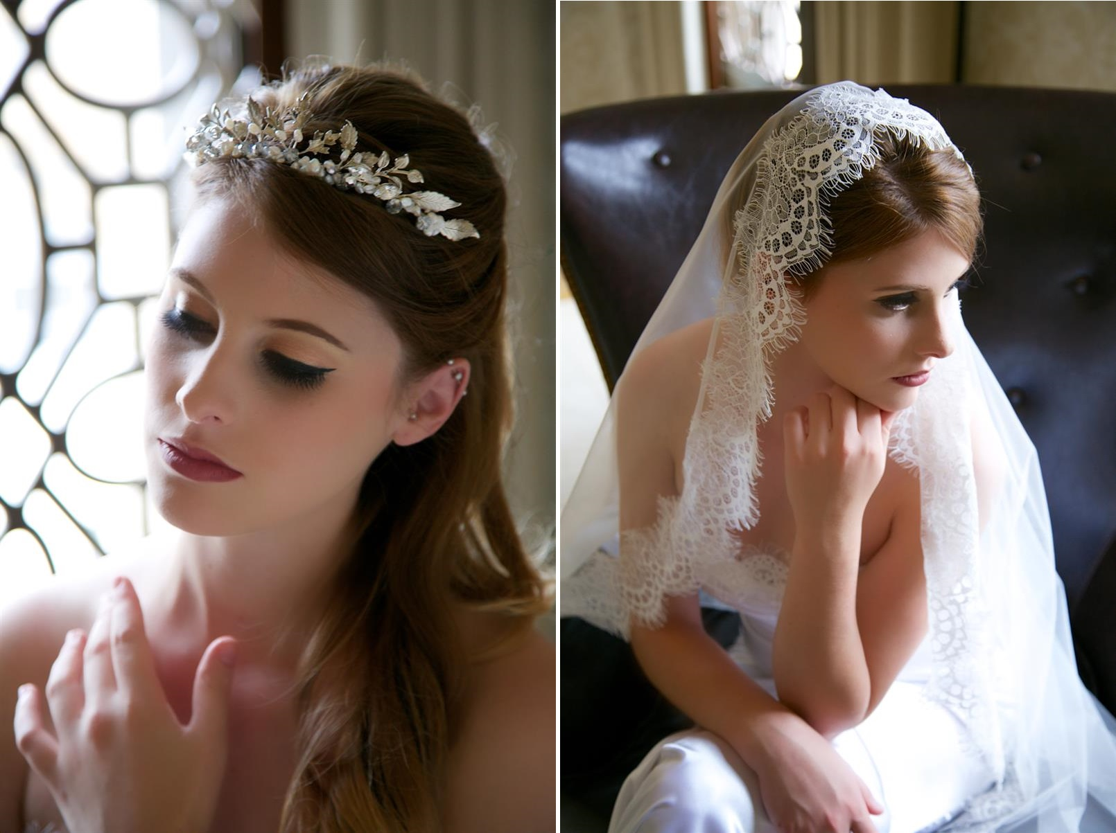 Glamorous Bridal Headpieces from Gilded Shadows - Silver Crown