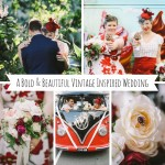 A Bold & Beautiful Vintage Inspired Wedding from Lara Hotz Photography