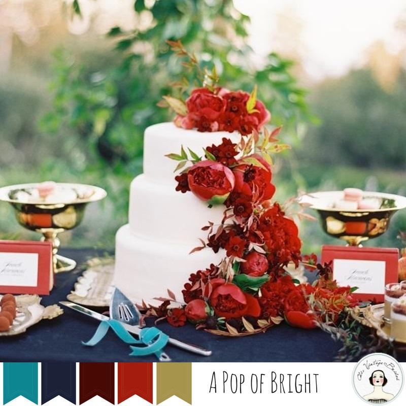 5 Vintage Wedding Colour Palettes Perfect for Autumn - A Pop of Bright
