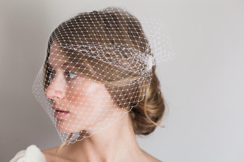 Mignonne Handmade's 2014 Bridal Accessories - Bandeau Style Veil