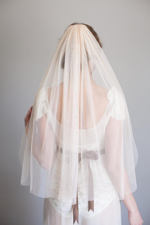 Mignonne Handmade's 2014 Bridal Accessories - Blush Veil