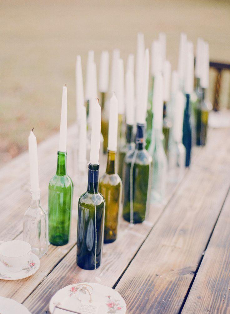 5 Creative & DIYable Centrepieces - Bottles