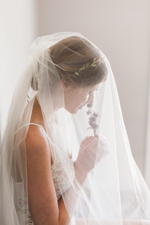 Mignonne Handmade's 2014 Bridal Accessories - Double Layer Tulle Veil