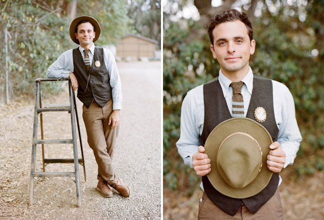 10 Ways to Style Your Groom Vintage - Hats