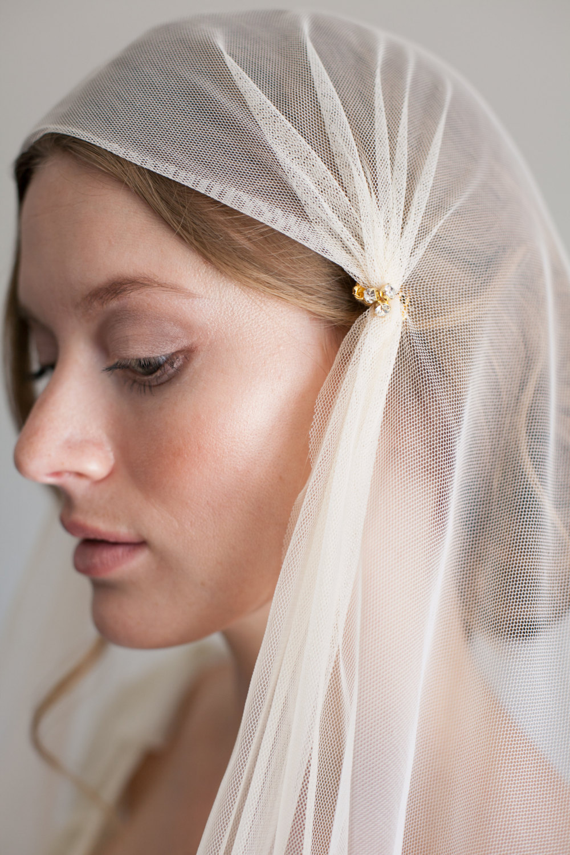 Mignonne Handmade's 2014 Bridal Accessories - Juliet Cap Veil