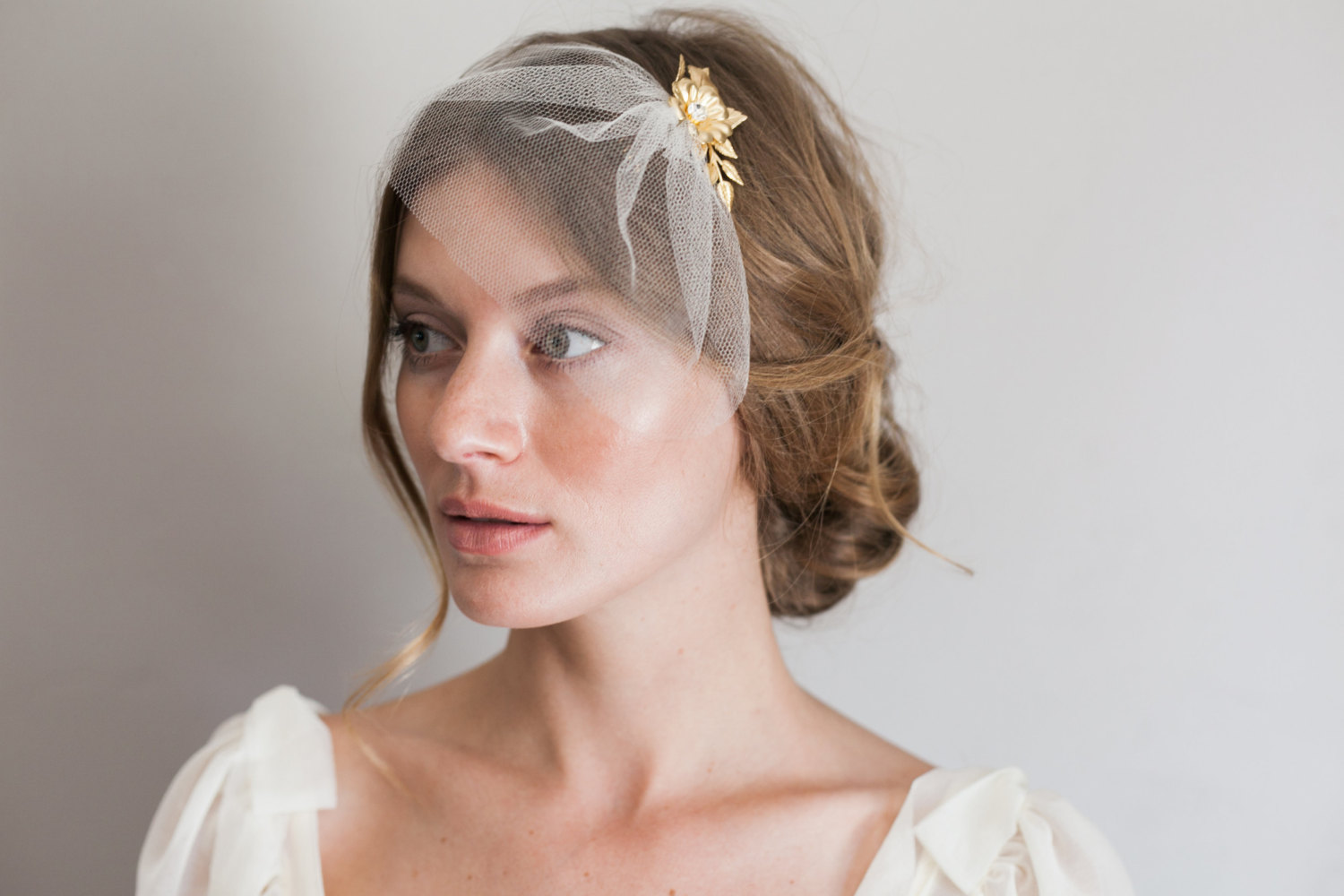 Mignonne Handmade's 2014 Bridal Accessories - Mini Silk Birdcage Veil