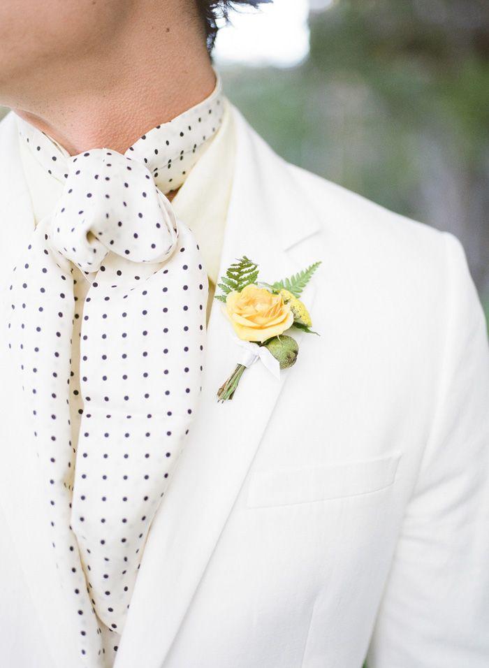 10 Ways to Style Your Groom Vintage - Cravats