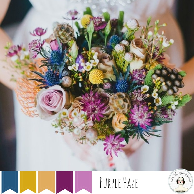 5 Vintage Wedding Colour Palettes Perfect for Autumn - Purple Haze