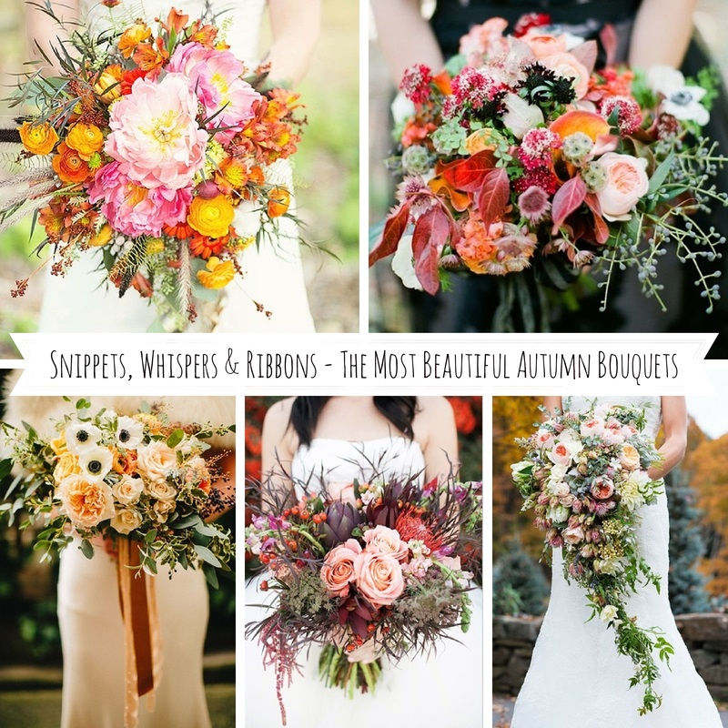 Snippets, Whispers & Ribbons - The Most Beautiful Autumn Bouquets