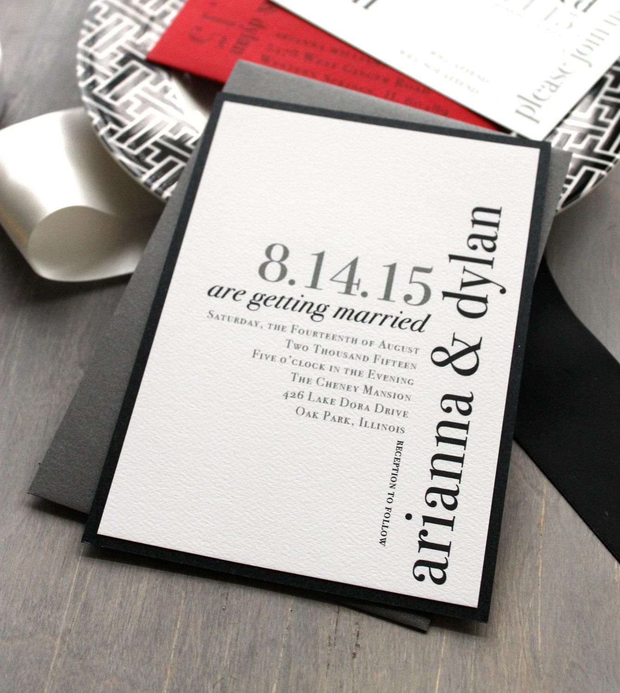 Urban Elegance Wedding Invites by Beacon Lane
