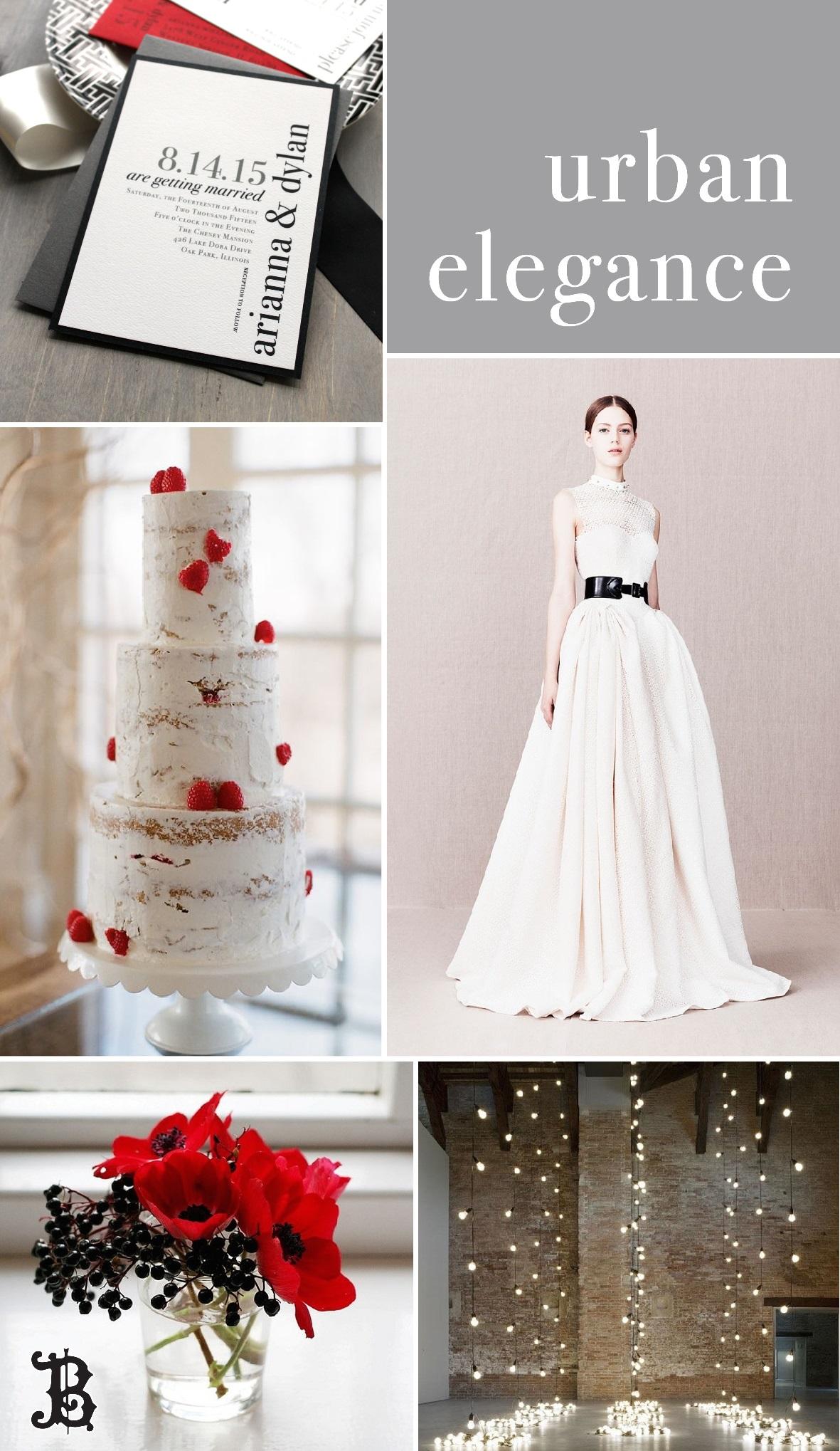 Wedding Inspiration Board - Urban Elegance by Beacon Lane