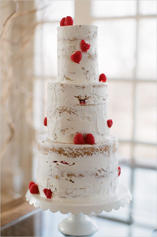 Nearly Naked Wedding Cake