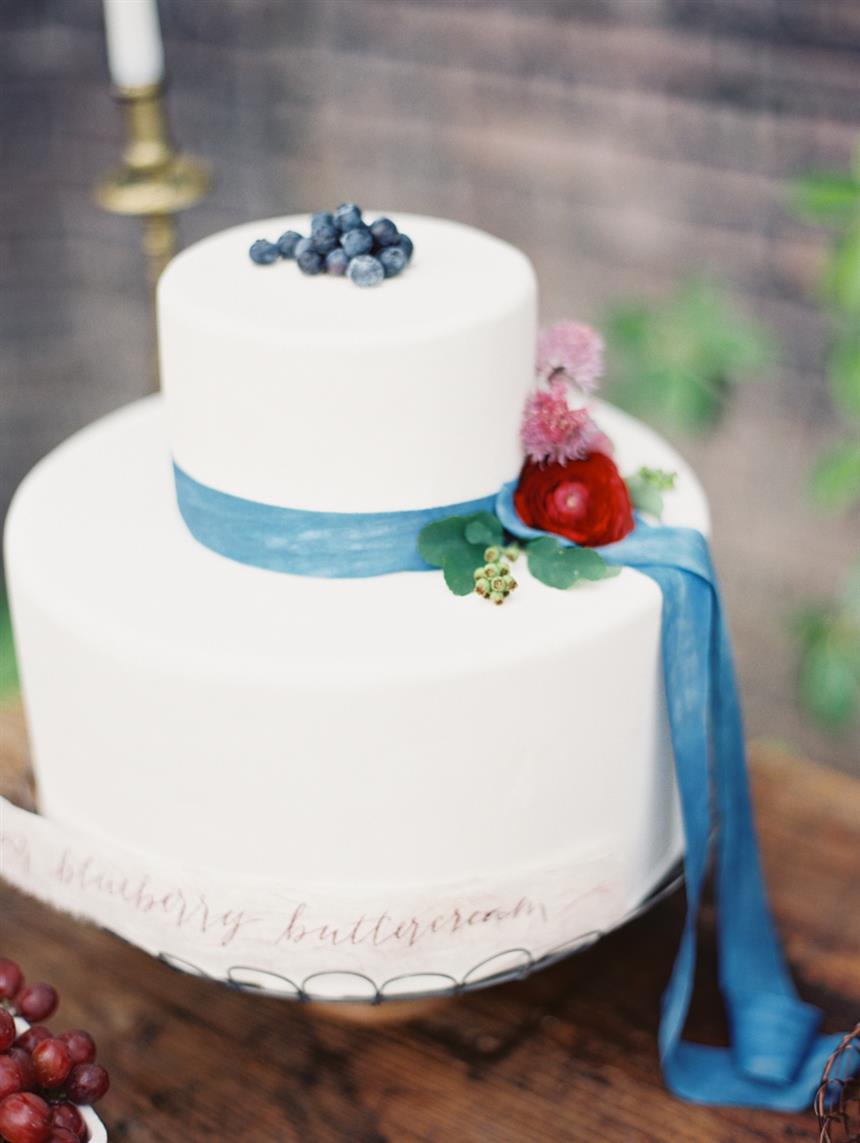 """Wedding Cake - """"The Secret Garden"""" A Romantic Garden Wedding Inspiration Shoot"""