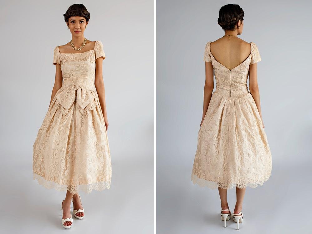 Beloved Vintage Bridal - Vintage 1950s Bridesmaid Dress