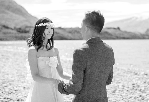 A Romantic Spring Elopement by the Lake in New Zealand from Jemma Keech Photography