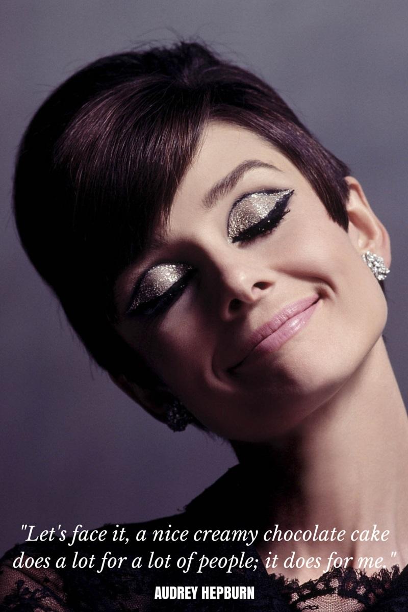 Audrey Hepburn on Chocolate Cake