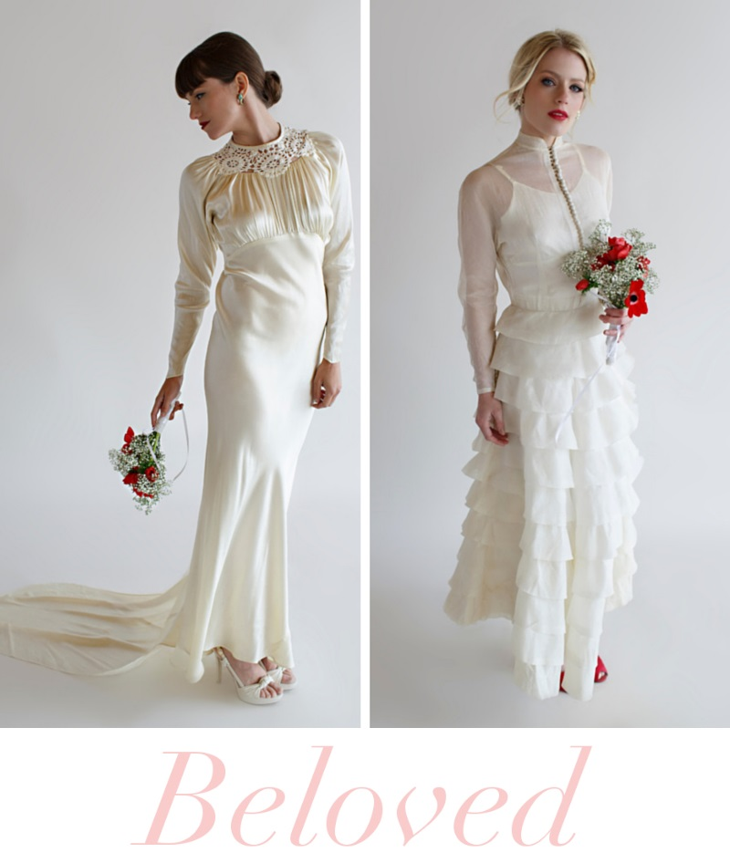 Beautiful Vintage Wedding Dresses From Beloved Bridal Chic
