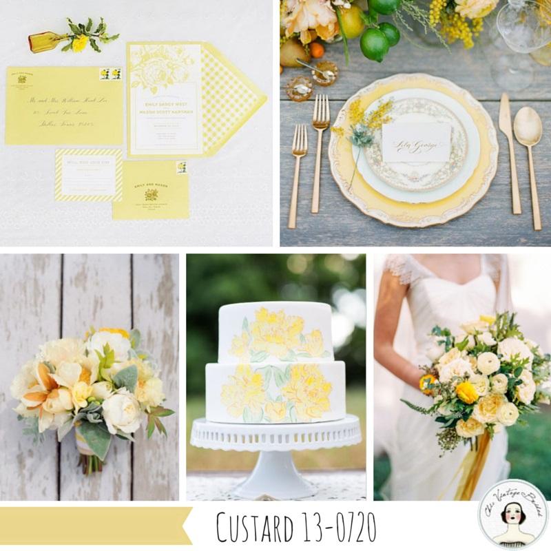Wedding Inspiration Board in Custard