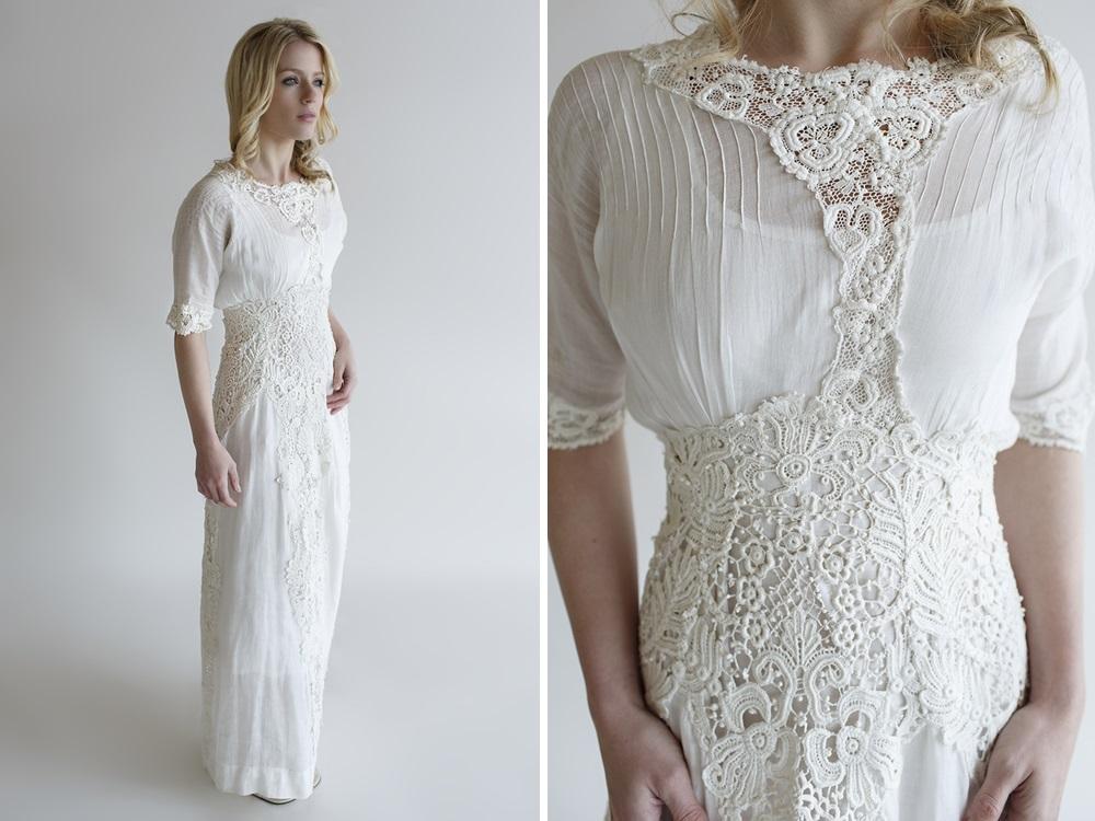 Beloved Vintage Bridal - Vintage Edwardian Wedding Dress