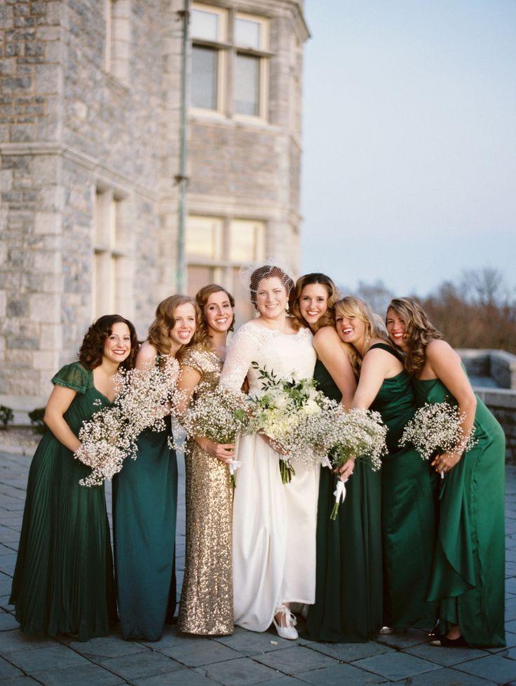 5 Colours Perfect for Autumn Bridesmaids - Emerald Green