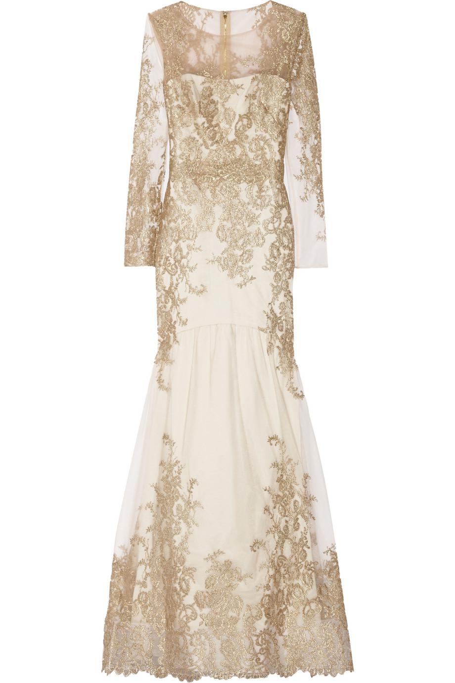 Gold Embellished Wedding Dress