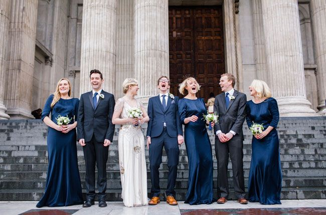 5 Colours Perfect for Autumn Bridesmaids - Midnight Blue