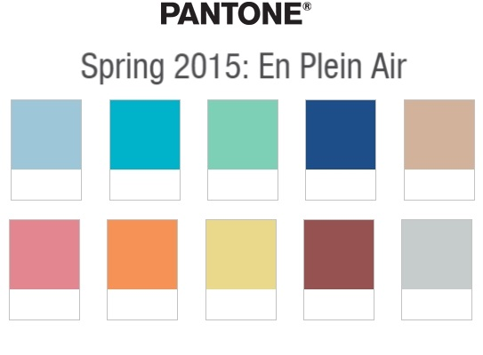 Pantone's Top Wedding Colours for Spring 2015