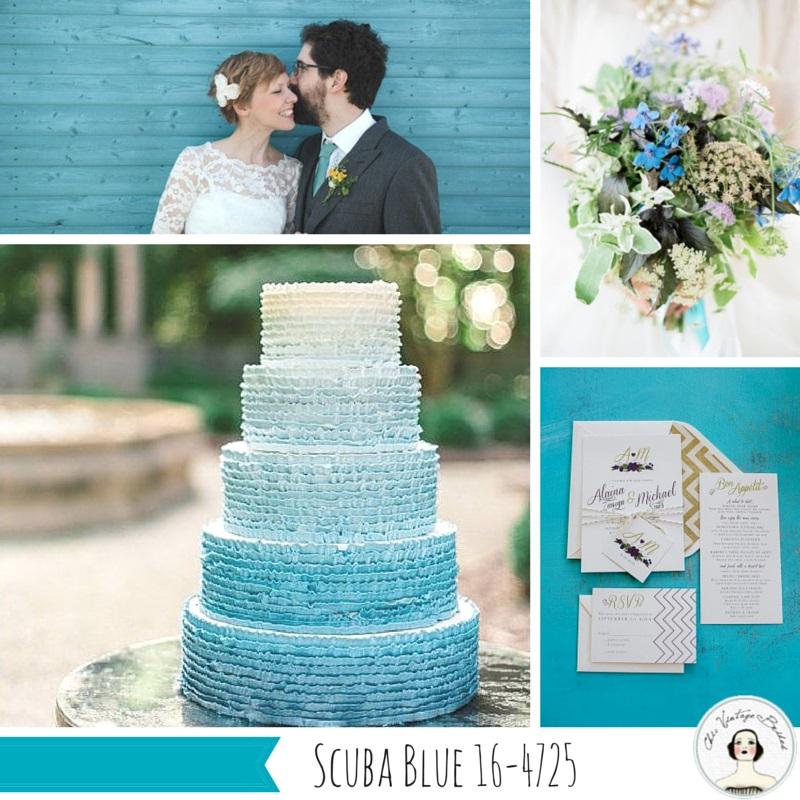 Wedding Inspiration Board in Scuba Blue