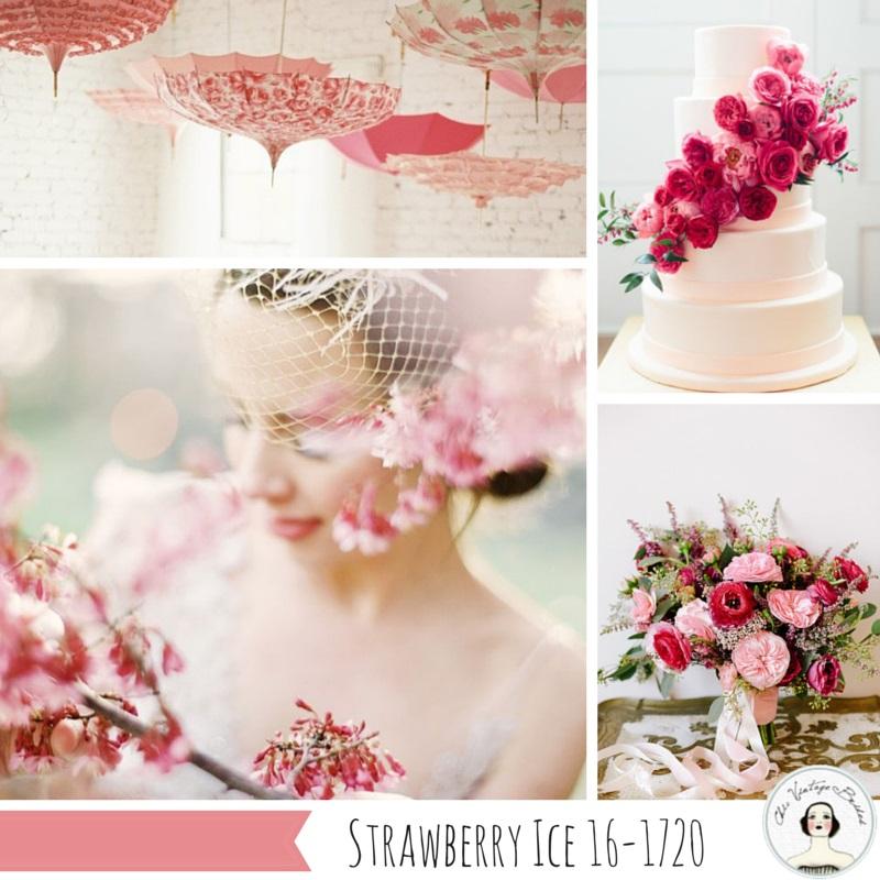 Wedding Inspiration Board in Strawberry Ice