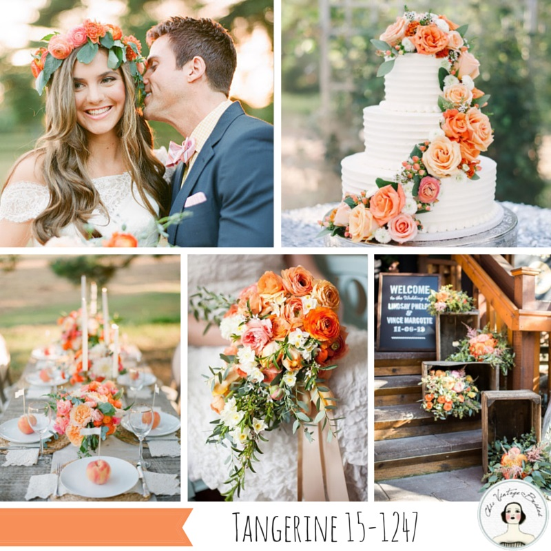 Wedding Inspiration Board in Tangerine