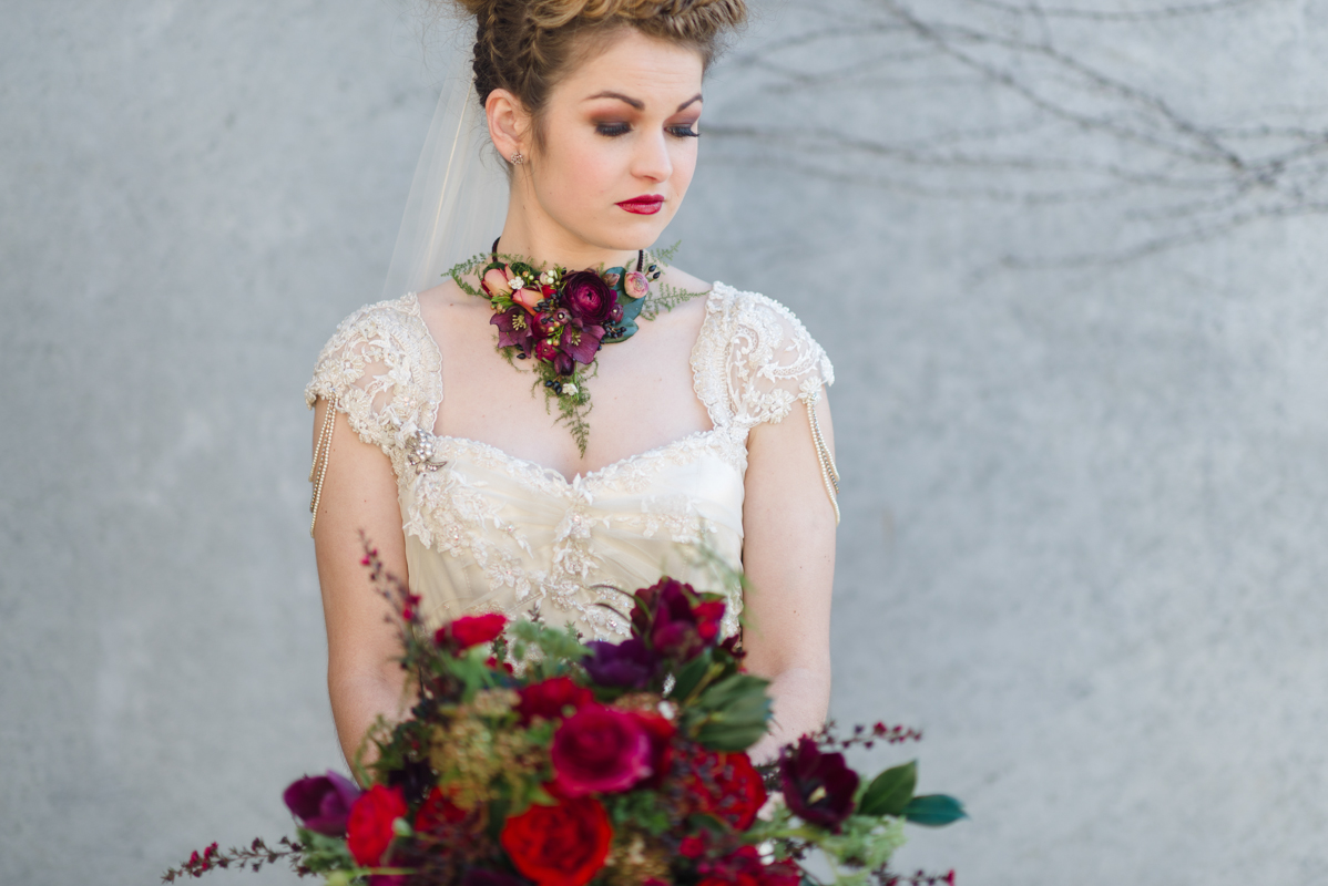 Red Vintage Bridal Inspiration