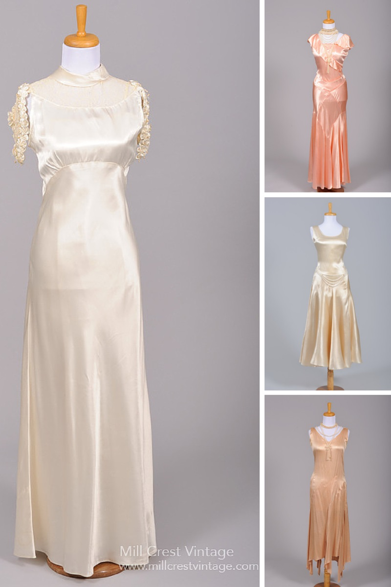 1930s Wedding Inspiration - Vintage Wedding & Bridesmaids Dresses