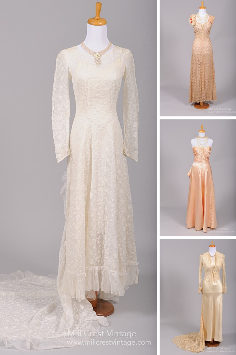 1940s Wedding Inspiration - Vintage Wedding & Bridesmaids Dresses