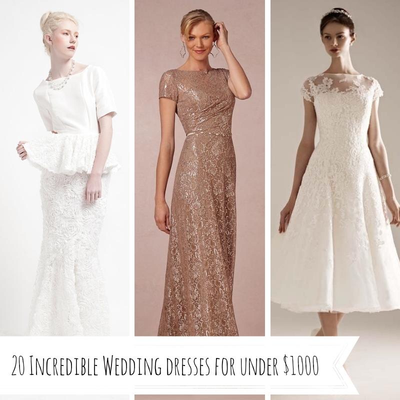 20 Incredible Wedding Dresses Under $1000