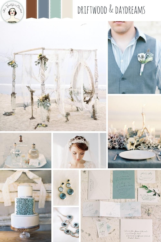 Driftwood & Daydreams Beach Wedding Inspiration Board