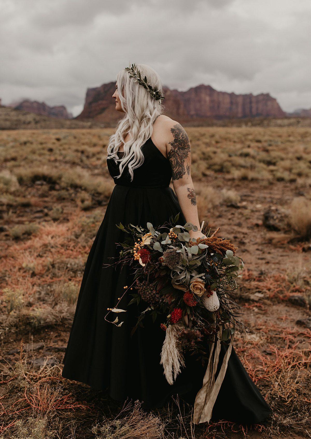 Black Hi Low Wedding Dress