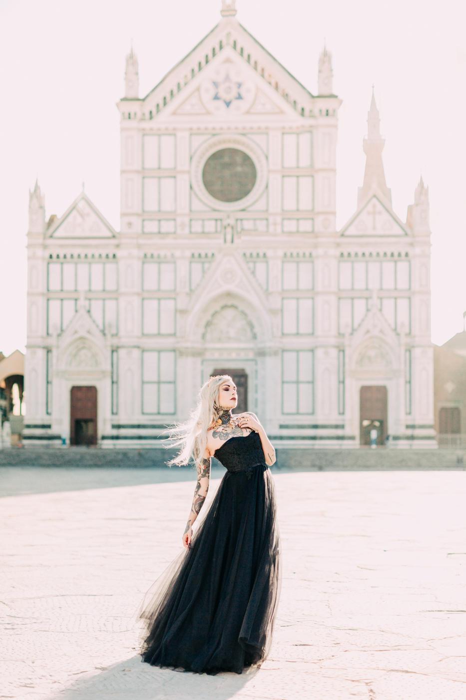 Black Sweetheart Wedding Dress