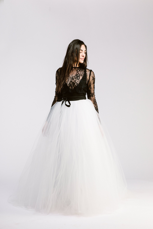 Black & White Bridal Separates