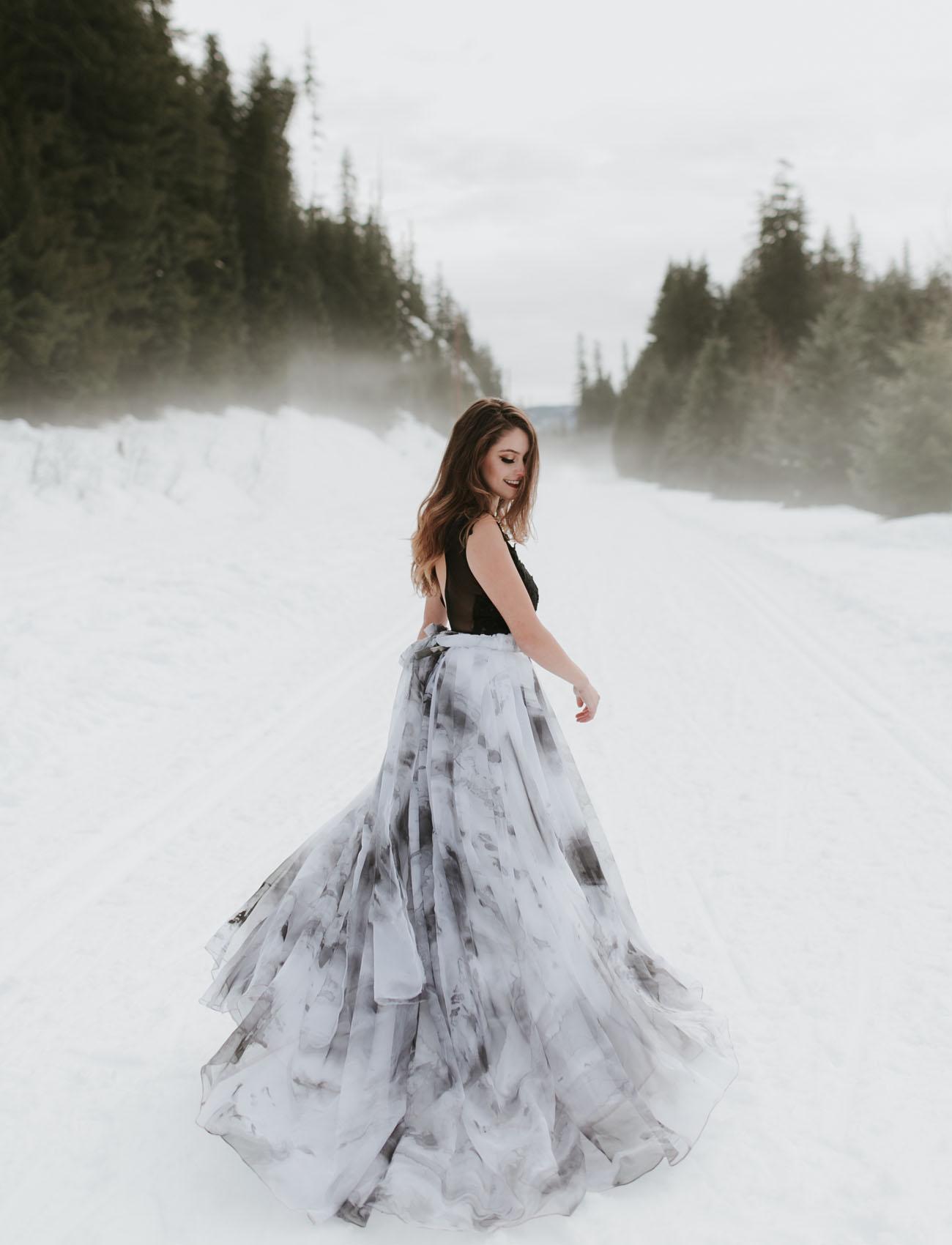 Black & White Wedding Dress