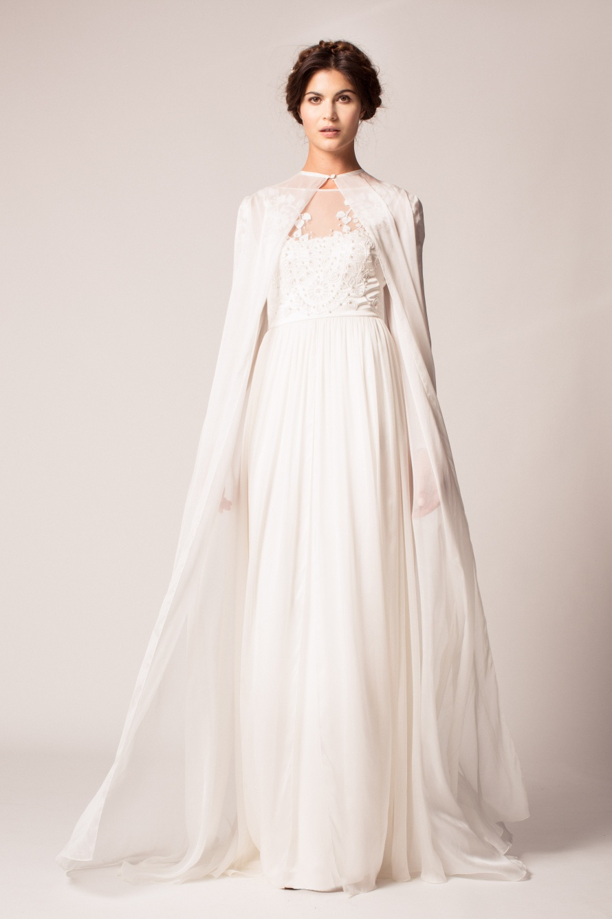 Bridal Cape from Temperley Londons Fall 2015 Bridal Collection